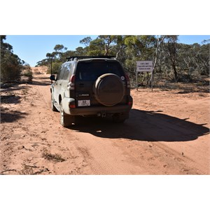 Cooltong Conservation Park 4WD Only Sign