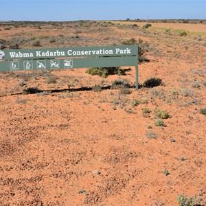 Wabma Kadarbu Conservation Park - Western Boundary Marker