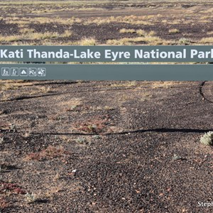 Lake Eyre National Park Boundary Sign