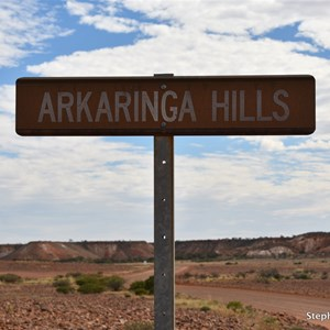 Arkaringa Hills Sign