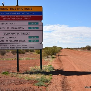 Painted Desert & Oodnadatta Track Road Conditions Sign