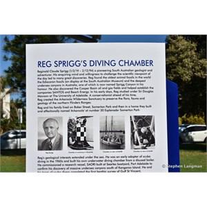 Reg Sprigg's Diving Chamber