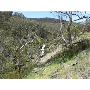 Waterfall 500m below weir