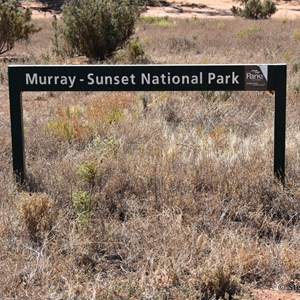 Murray Sunset National Park Boundary Sign