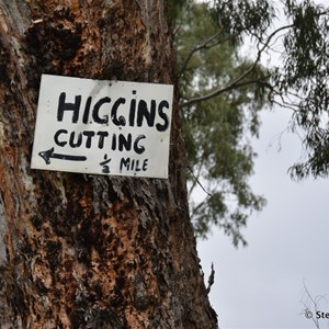 Higgins Cutting half Mile Marker Sign