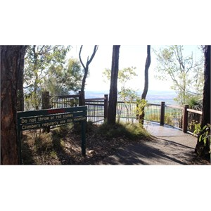 The viewing platform at Logan's Lookout