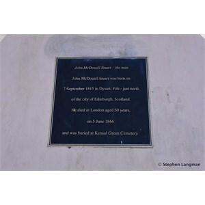 John McDouall Stuart Memorial