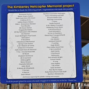 Kimberley Helicopter Pilot Memorial