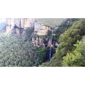 Bridal Veil Falls from Govetts Leap Lookout