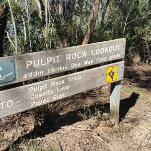 Signage at Pulpit Rock Carpark
