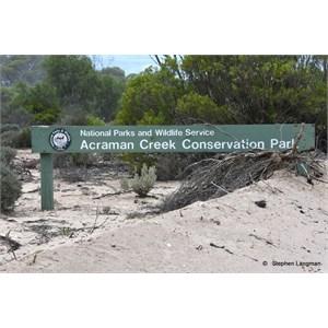 Acraman Creek Conservation Park Boundary Sign