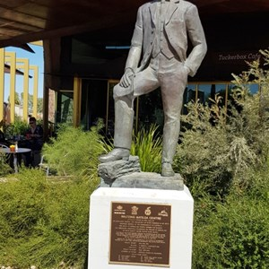 "Statue of AB ""Banjo"" Patterson"