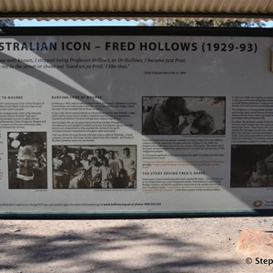 Fred Hollows Grave and Monument