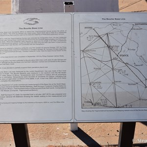 Bourke Base Line Historic Marker