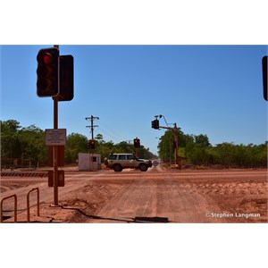 Weipa Haul Road Crossing