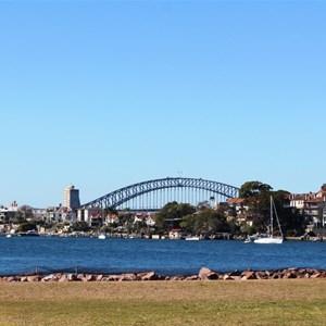 Sydney Harbour Bridge from Cockatoo Island