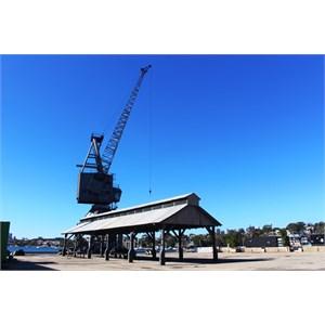 A ship building crane