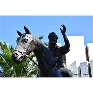 Charles Archer & Sleipner Statue
