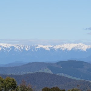 View east to Snowy Mtns