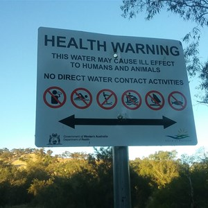 Health Warning- Dont drink or swim here