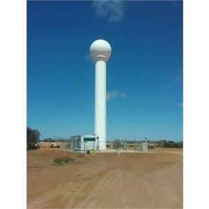 Newdgate BOM weather radar tower.