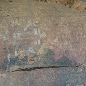 Ancient art in Gill Creek