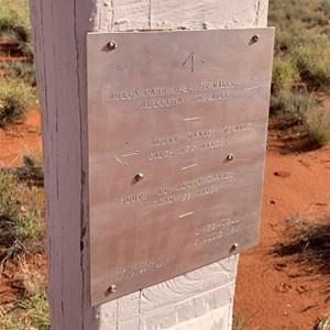 """""""Kintore Avenue"""" Len Beadell plaque"""