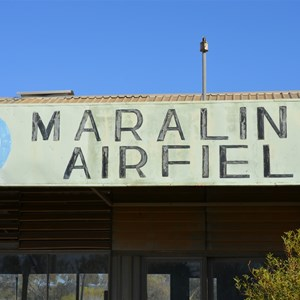 Original sign at the Maralinga Airfield