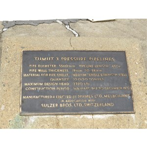 T3 Pressure Pipelines Plaque