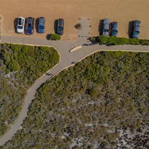 View of carpark from Drone