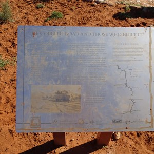 Interpretive sign at the Cobbled Road