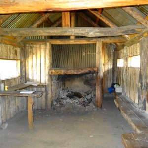 Interior of Bluff Hut 2016