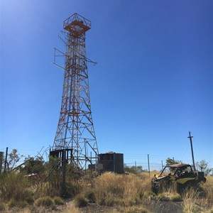 Abandoned tower above Wittneoom