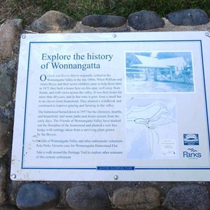Historical plaque at homestead site