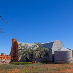 Woolshed Homestead featuring the unique curved roof