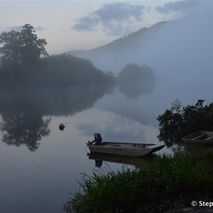 Early morning fog on the Daintree River