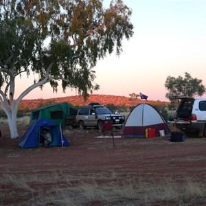 Batton Hill campground, Batton Hill in background