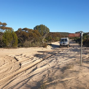Milmed Rock Track and Look Out Dune intersection