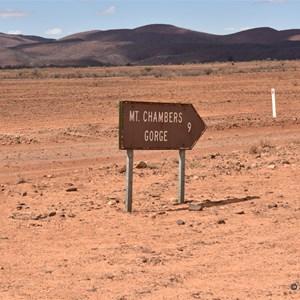 Chambers Gorge Turn Off