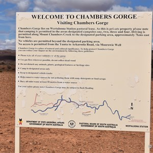 Chambers Gorge Information Sign