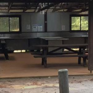 Camp kitchen with BBQs, sink, etc