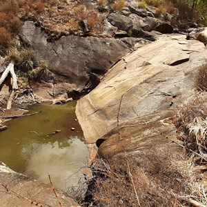 Bottom rockpool below the main waterfall (only flows in winter)