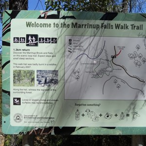 Old map of walk trail (now gone)