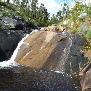 Main falls and rockpool after rain