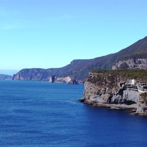 The coast of the Tasman Peninsula south of the lookout