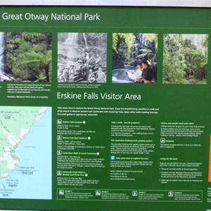 Information at Erskine Falls parking area