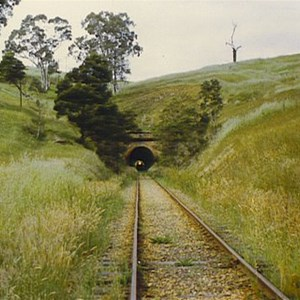 Photo of the last train to ever travel through Cheviot Tunnel (curtesy Lance Adams)