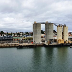 Silos and Davenport from the Spirit of Tasmania
