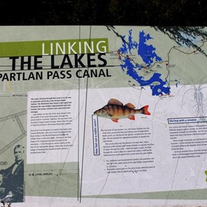 Information sign at the McPartlan canal viewing point.