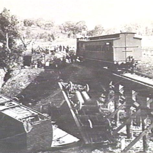 Train derailment Harvey's Gully 1911
